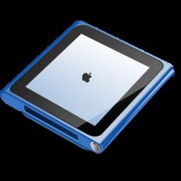 256x256px size png icon of iPod nano blue