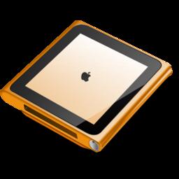 256x256px size png icon of iPod nano orange