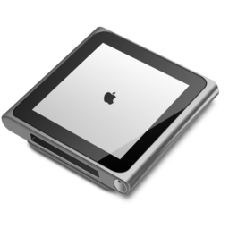 256x256px size png icon of iPod nano silver
