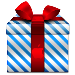 256x256px size png icon of Present