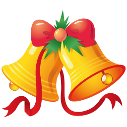 256x256px size png icon of christmas bells