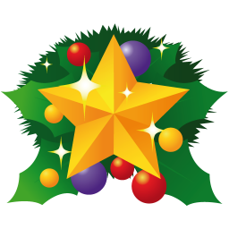 256x256px size png icon of christmas star