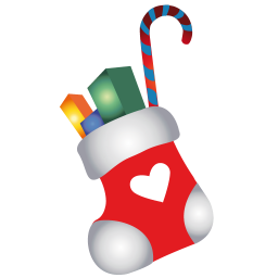 256x256px size png icon of christmas stocking