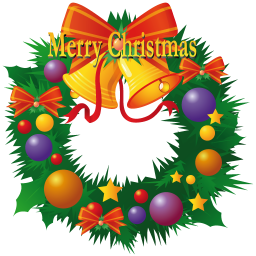 256x256px size png icon of christmas wreath