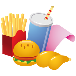 256x256px size png icon of fast food