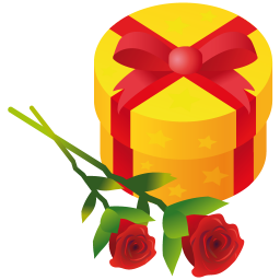 256x256px size png icon of gift rose