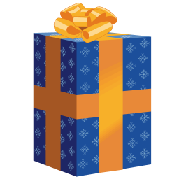 256x256px size png icon of gift