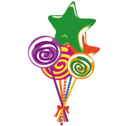 256x256px size png icon of lollies