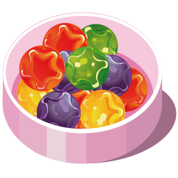 256x256px size png icon of marbles