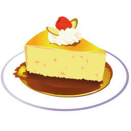256x256px size png icon of piece of cake