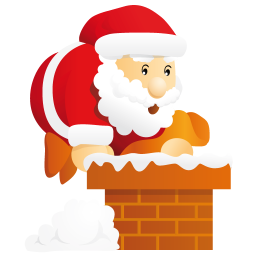 256x256px size png icon of santa chimney