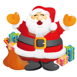 256x256px size png icon of santa gifts
