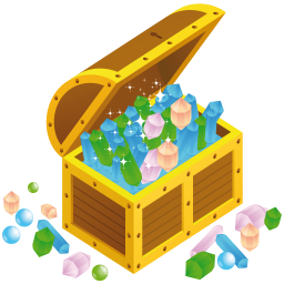 256x256px size png icon of treasure chest open