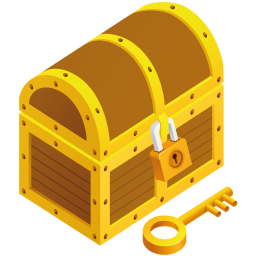 256x256px size png icon of treasure chest
