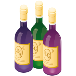 256x256px size png icon of wine