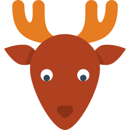 256x256px size png icon of deer