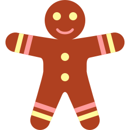 256x256px size png icon of gingerbread men