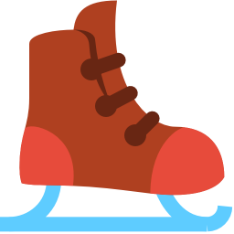 256x256px size png icon of ice skate
