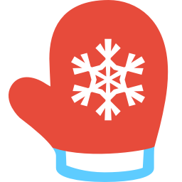 256x256px size png icon of mitten