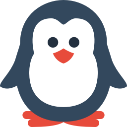 256x256px size png icon of penguin
