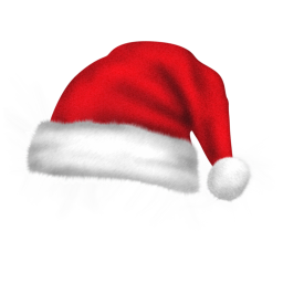 256x256px size png icon of santa hat