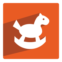 256x256px size png icon of Rocking Horse