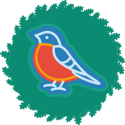 256x256px size png icon of bird