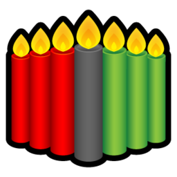 256x256px size png icon of Kwanzaa Candles
