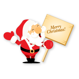 256x256px size png icon of santa merry christmas