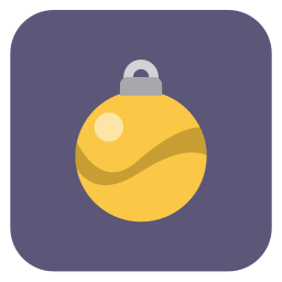 256x256px size png icon of christmas ball