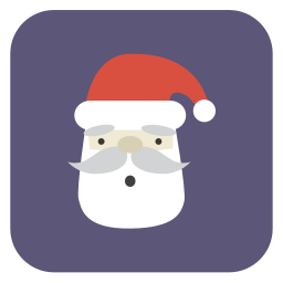 256x256px size png icon of santa