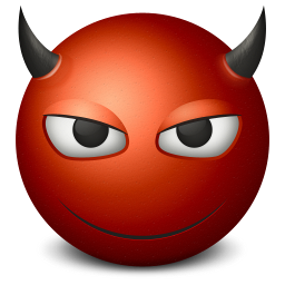 256x256px size png icon of devil
