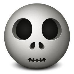 256x256px size png icon of skull