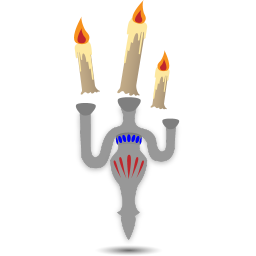 256x256px size png icon of floating candles