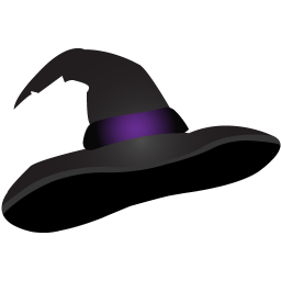 256x256px size png icon of witch hat