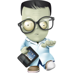256x256px size png icon of geek zombie