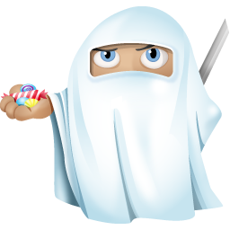 256x256px size png icon of ninja ghost