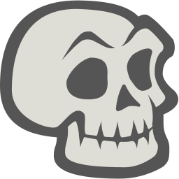 256x256px size png icon of Skeleton