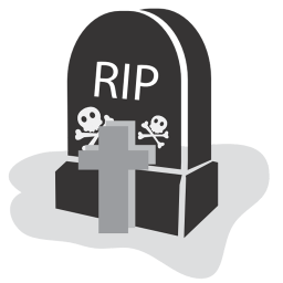 256x256px size png icon of graveyard rip
