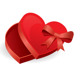 256x256px size png icon of love box