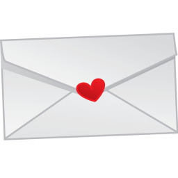 256x256px size png icon of love letter mail