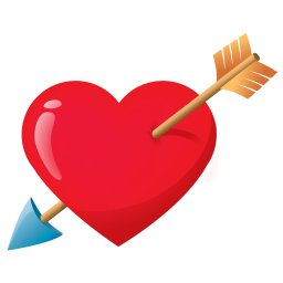 256x256px size png icon of love