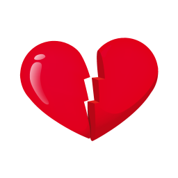 256x256px size png icon of heart broken