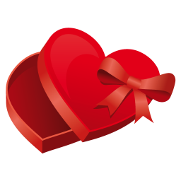 256x256px size png icon of heart case