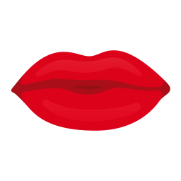 256x256px size png icon of kiss lips