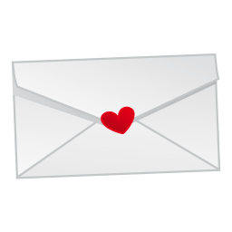 256x256px size png icon of love mail