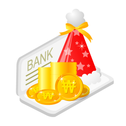 256x256px size png icon of christmas bank money