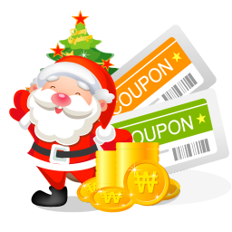 256x256px size png icon of christmas coupons