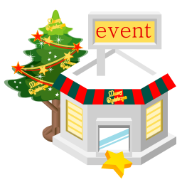 256x256px size png icon of christmas event store