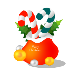 256x256px size png icon of christmas gift bag